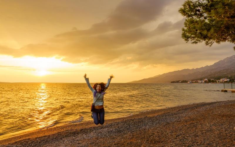 Ari is happy to be here  (Seakayaking Croatia Sept 2019)