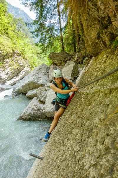 Climbing along the river 3 (Pirknerklamm Klettersteig)