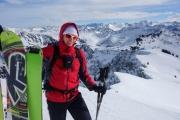 Cris at the ski depot (Ski tour Hohe Matona Feb 2014)