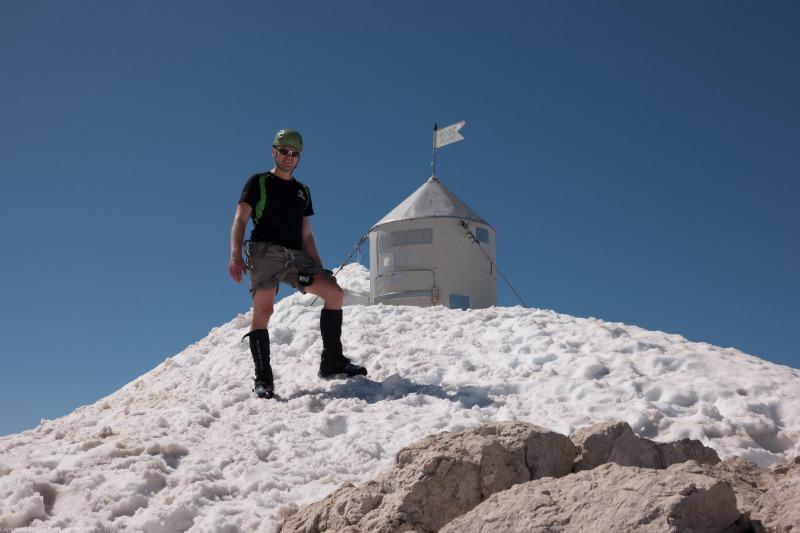 Cris at the summit of Triglav (Summer Holidays 2016)