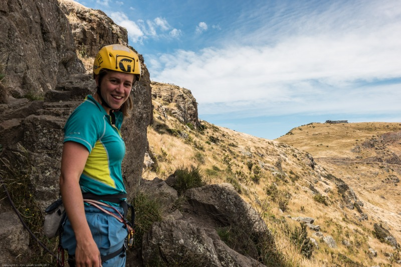 Emily at Cattle Stop (Cattle Stop Crag)