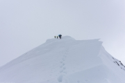 Heading towards the Similaun Summit (Ski touring Martin Busch Huette)