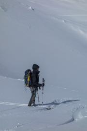 Leonie and gear (Ski touring Jamtalhuette)