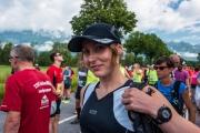 Leonie at the start (LGT Marathon)