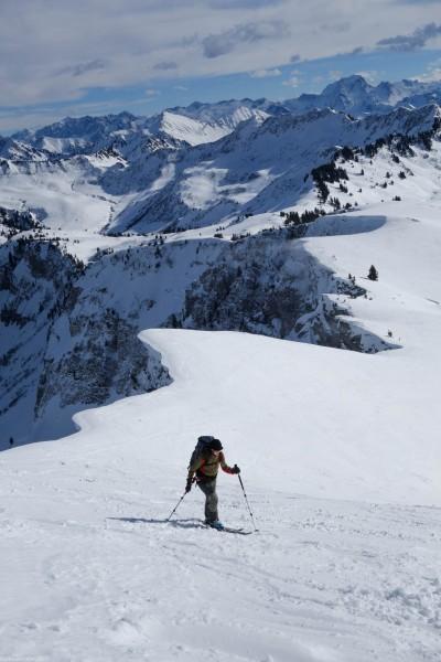 Leonie heading towards the summit 2 (Ski tour Hohe Matona Feb 2014)
