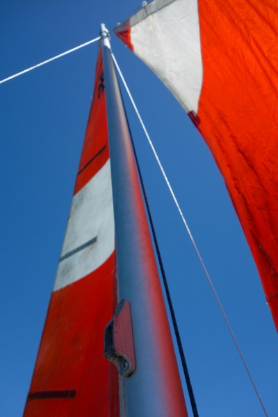 Looking up at the sails (Golden Bay Dec 2014)