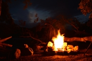 Mmm fire (Seakayaking Manapouri)