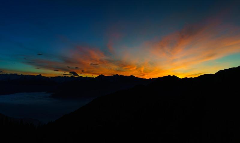 Nice sunset in the evening from the Solsteinhaus (Exploring Karwendel)
