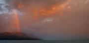 Rainbow over the hills by Lake Pukaki (Lake Pukaki)