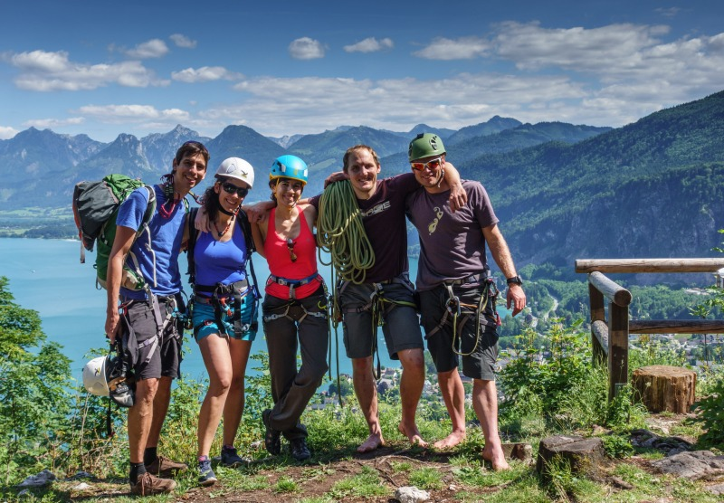 Some of the crew (Salzkammergut Adventures)