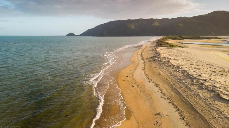 View along the beach at Wainui (Golden Bay 2019)