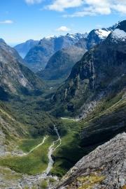 View down towards Milford Sound 3 (Gertrude Saddle Walk)