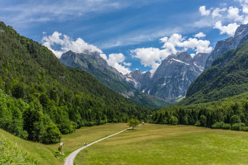 View from Log pod Mangartom towards Jalovec (Summer Holidays 2016)