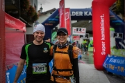 Cris and Leonie at the finish (Pölven trail)