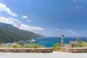 Leonie and sea behind (Corsica)