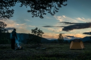 Leonie at our camp site (Cycle Touring Norway 2016)