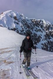 Nearing our summit (Ski touring near Wösterspitze)