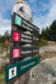 Signs into Reinheimen NP (Cycle Touring Norway 2016)