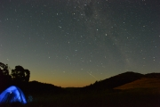 The milky way above the tent 2 (Camping Banks Peninsula)