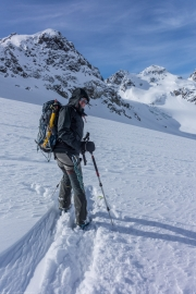 Time to descend (Ski touring Jamtalhuette)