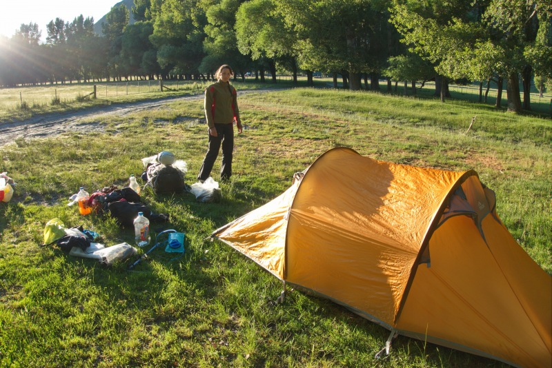 Camp at the start of the tramp (Rabbit Pass Tramp Dec 2014)