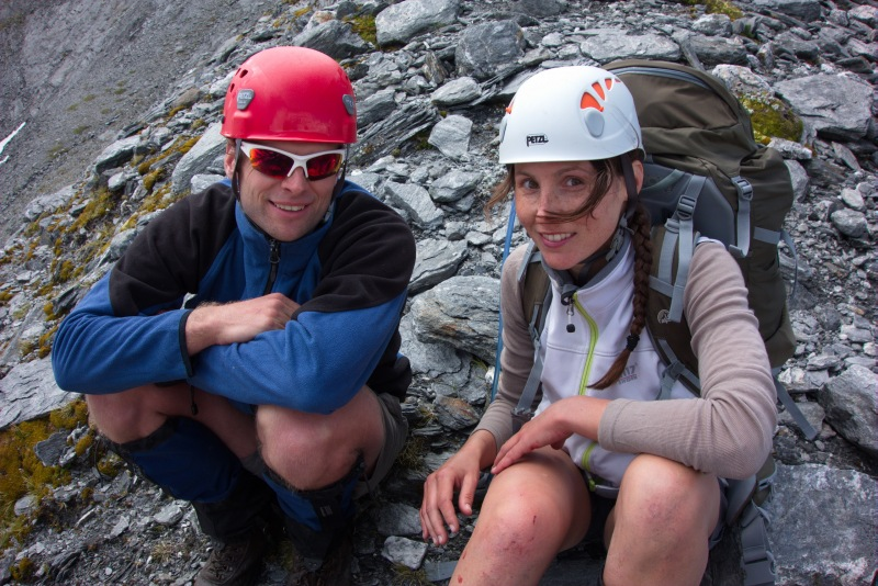 Cris and Leonie after the ascent 2 (Rabbit Pass Tramp Dec 2014)