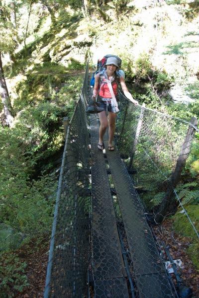 Crossing a bridge (Rabbit Pass Tramp Dec 2014)