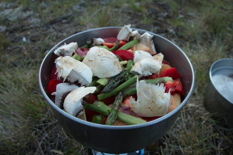 Dinner at Ruth Flat (Rabbit Pass Tramp Dec 2014)