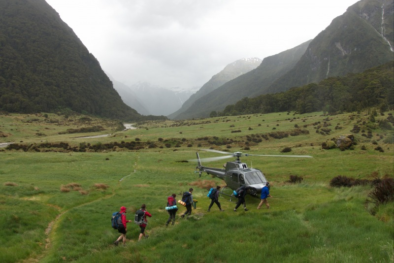 Guided trampers make an escape (Rabbit Pass Tramp Dec 2014)