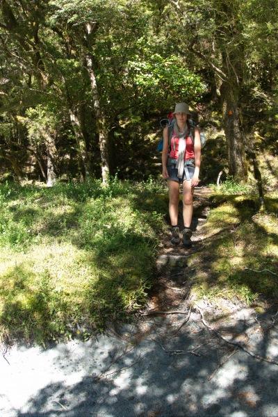 Leonie in the forest (Rabbit Pass Tramp Dec 2014)