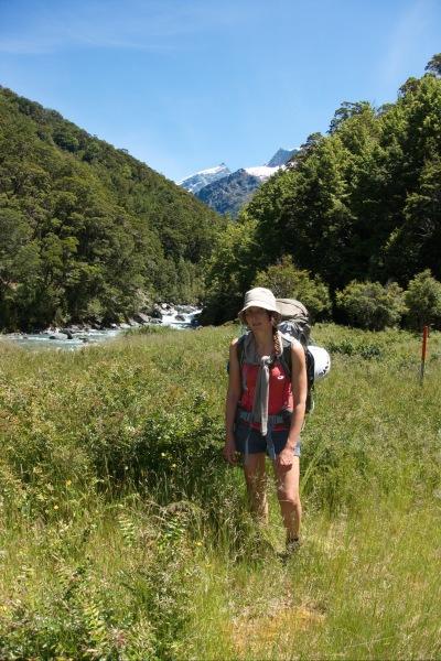 Leonie near river (Rabbit Pass Tramp Dec 2014)