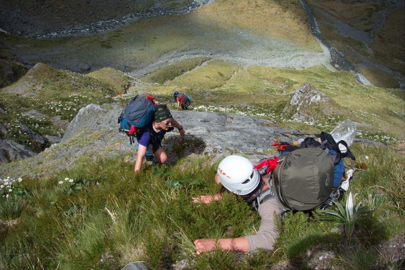Looking down the descent 2 (Rabbit Pass Tramp Dec 2014)