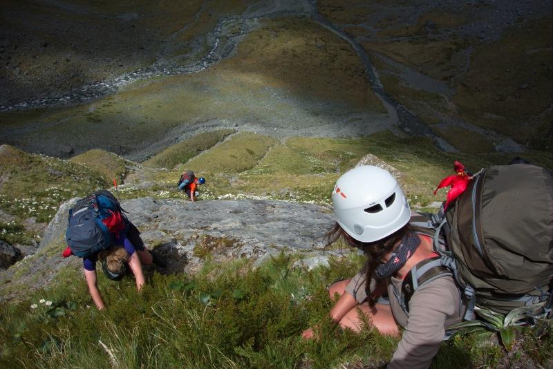Looking down the descent (Rabbit Pass Tramp Dec 2014)