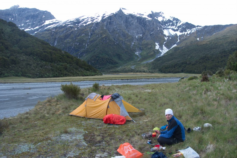 Tent at Ruth Flat 2 (Rabbit Pass Tramp Dec 2014)