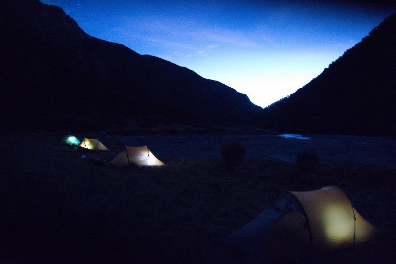 Tents at night 2 (Rabbit Pass Tramp Dec 2014)