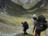 Gina and Leonie descending Rabbit Pass (Rabbit Pass Tramp Dec 2014)