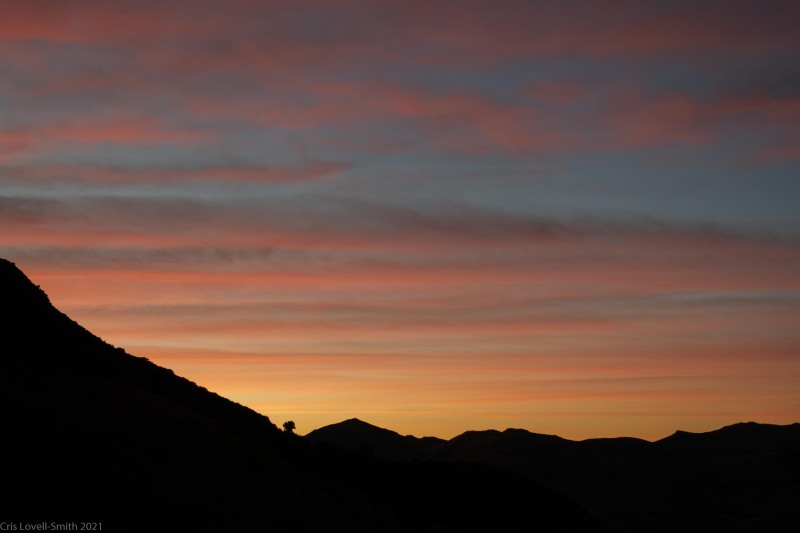 Amazing sunrise (Rod Donald Hut March 2021)