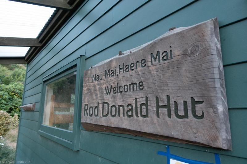 The hut (Rod Donald Hut March 2021)