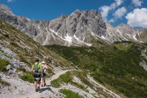 Heading off for a via ferrata (Hofpürglhütte)