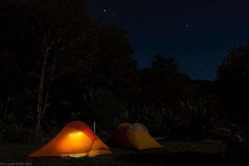 Almost bedtime (Seakayaking Abel Tasman April 2021)