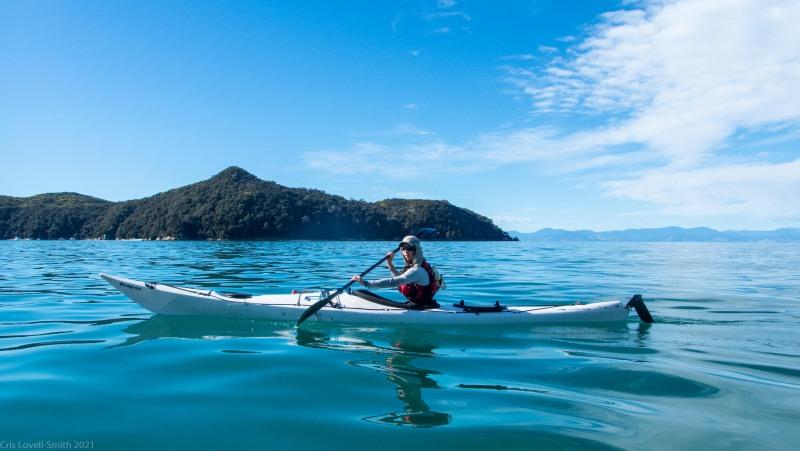 Ellen kayaking (Seakayaking Abel Tasman April 2021)