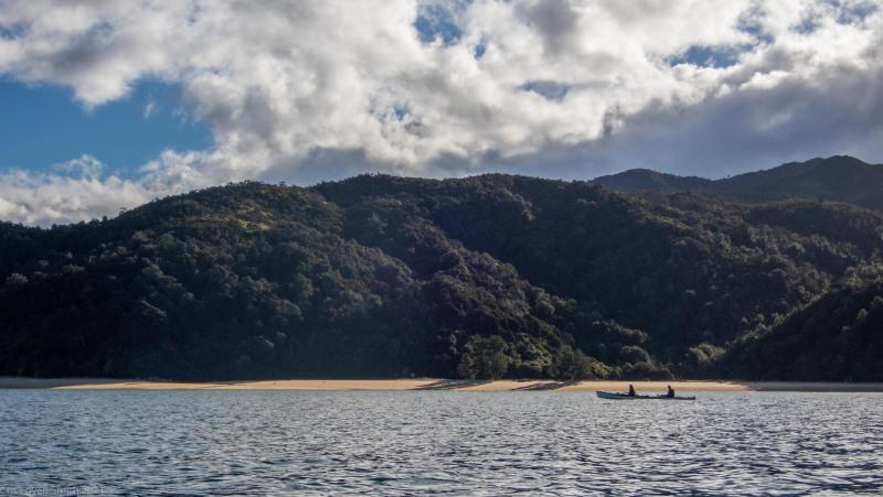 Kayaking out (Seakayaking Abel Tasman April 2021)