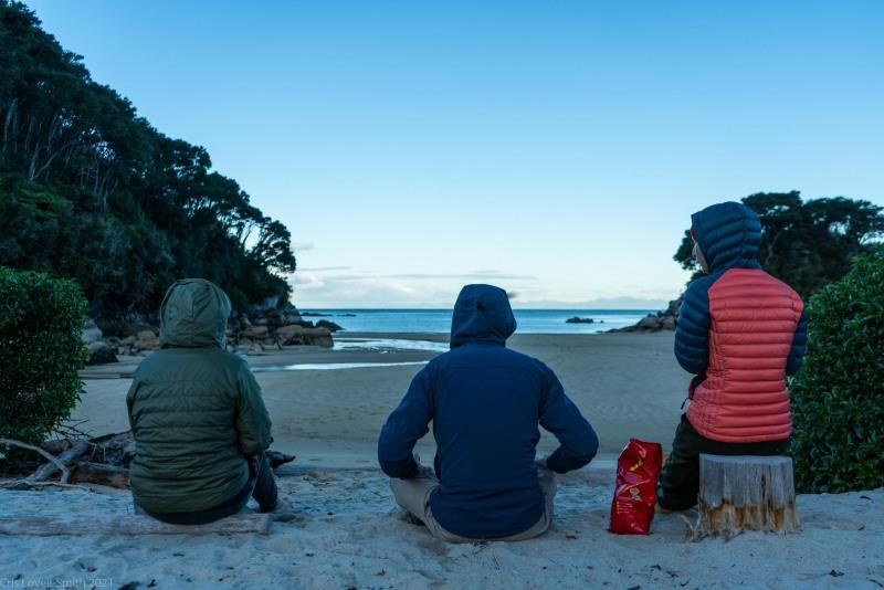 Snacks on the beach (Seakayaking Abel Tasman April 2021)