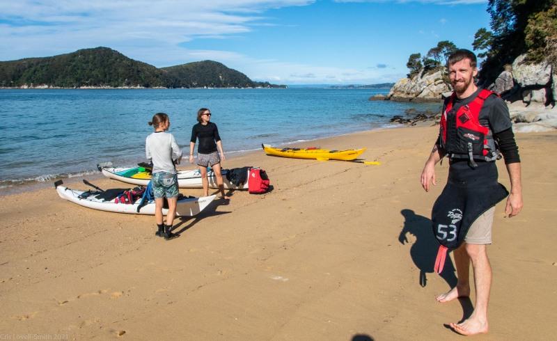 Stopped for a snack (Seakayaking Abel Tasman April 2021)