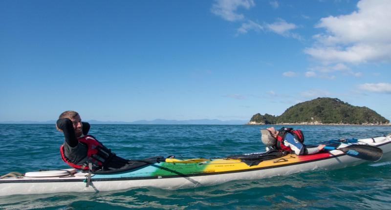 Taking a break (Seakayaking Abel Tasman April 2021)