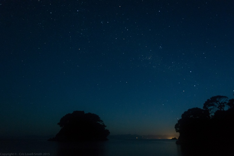 Night sky in Mosquito Bay 2 (Seakayaking Abel Tasman Dec 2014)