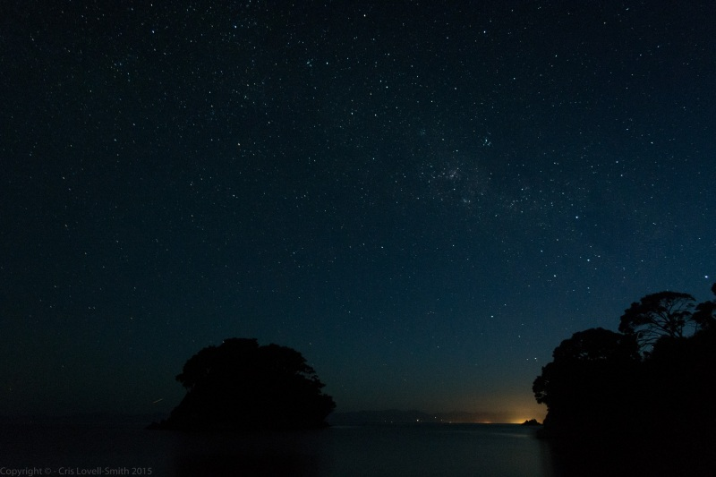 Night sky in Mosquito Bay 4 (Seakayaking Abel Tasman Dec 2014)