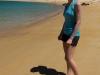 Leonie on beach at Te Puketia (Seakayaking Abel Tasman Dec 2014)