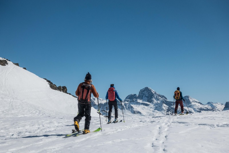 At a saddle (Ski touring Avers March 2019)