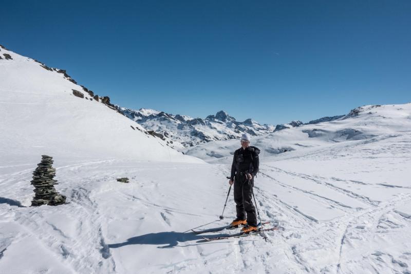 Cris posing (Ski touring Avers March 2019)